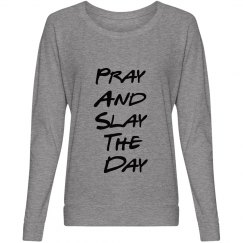 Pray and Slay Grey Slouchy Shirt