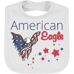 July 4th American Eagle baby Bib