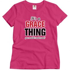 It's a grace thing