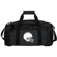 Football Helmet Black Duffle Bag