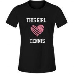This girl loves tennis