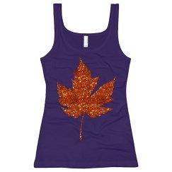 Vibrant Orange Leaf