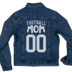 Custom Football Mom Denim Jacket
