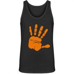 Orange Hand Print