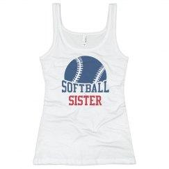Softball Sister Tank Top