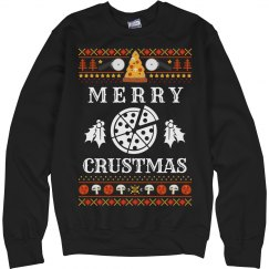 Merry Crustmas Ugly Sweater