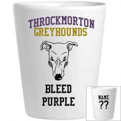 Bleed purple shot glass
