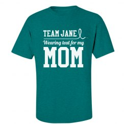 Teal Ribbon For Mom