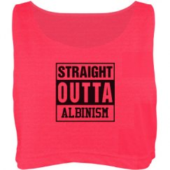 Straights Outta Albinism- Crop Top