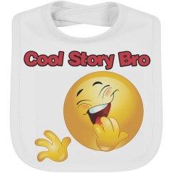Trendy Cool Story Bro Emoji Bib