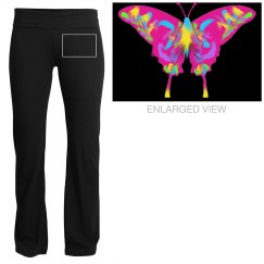 Tie-Dyed Butterfly Pants