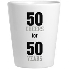 50 Year Shot Glass