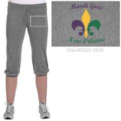 Mardi Gras crop pants