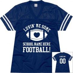 Custom Football Mom Love Jerseys