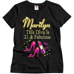 PRETTY PINK HIGH HEEL 21ST BIRTHDAY PERSONALIZED SHIRT