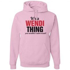 It's a Wendi thing