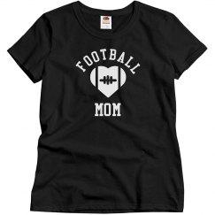 Rhinestone Football Mom Shirt