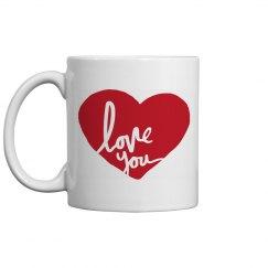 Love You Valentine's Day Mug
