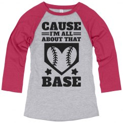 A Softball Girl With A Base