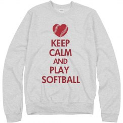 Keep Calm Softball Heart