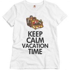 Keep calm vacation time