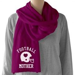 Football Mom Scarf Heart