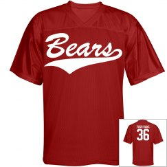 Bears custom name and number sports jersey
