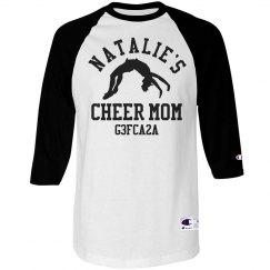 Trendy Cheer Mom Shirt With Custom Cheerleader Name