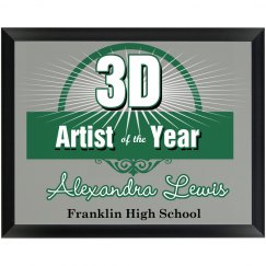 Artist Award Plaque
