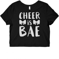 Cute & Trendy Cheer Is Bae With Bow