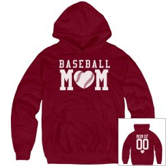 Baseball Mom Hoodies You Can Customize!