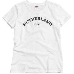 Sutherland women's T