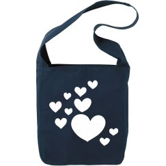 Scatterd Hearts Tote Canvas Bag