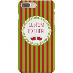 Holiday Christmas Striped Custom