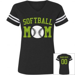 Custom Softball Rhinestone Mom