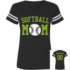 Custom Softball Rhinestone Mom