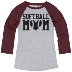 Plus Size Softball Mom Shirts