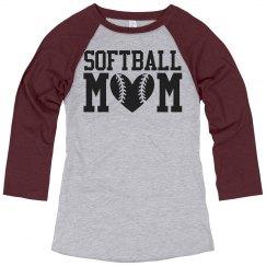 Plus Size Softball Mom Shirts