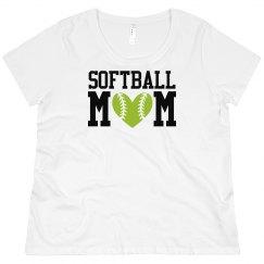 Softball Mom Curvy Tee