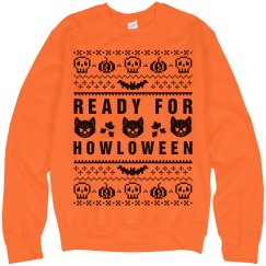 Howl-oween Ugly Sweater Orange