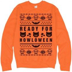 Howl-oween Ugly Sweater Orange
