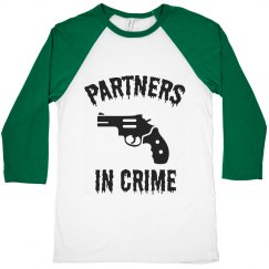Partners on crime t shirt