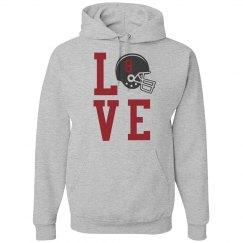 Love football hoodie