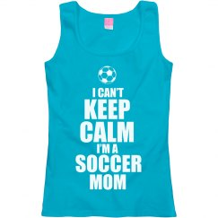 Keep Calm Soccer Mom Tank