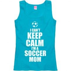 Keep Calm Soccer Mom Tank