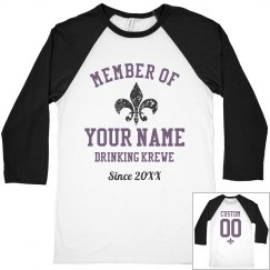 Custom Name Drink Krewe Mardi Gras
