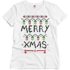 Cute Merry Christmas Ugly Sweater Woman's T-Shirt