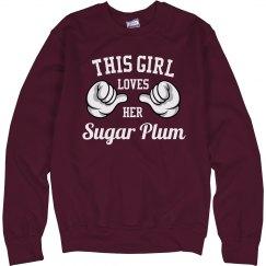 Girl loves her Sugar Plum