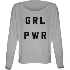 GRL PWR Trendy Feminist Graphic