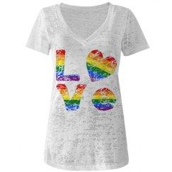 Distressed Gay Pride LOVE